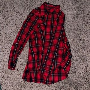 Red and black plaid long sleeve